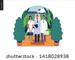 medical insurance  specialists... | Shutterstock .eps vector #1418028938