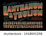 lanthanum and thulium is a... | Shutterstock .eps vector #1418041358