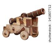 Medieval Artillery Gun On A...