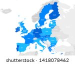 europa highly detailed map.all... | Shutterstock .eps vector #1418078462