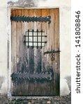 Weathered Wooden Door Of An Ol...