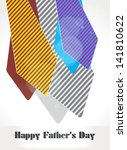 happy fathers day background... | Shutterstock .eps vector #141810622