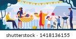 family resting in park or...   Shutterstock .eps vector #1418136155