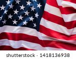 american flag wave close up for ... | Shutterstock . vector #1418136938