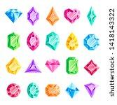 jewels gems. jewelry diamond ...   Shutterstock . vector #1418143322