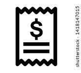receipt icon. vector... | Shutterstock .eps vector #1418147015