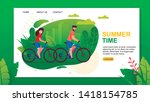 landing page with summer time... | Shutterstock .eps vector #1418154785