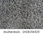 black natural fleece carpet... | Shutterstock . vector #1418156525