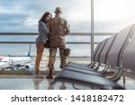 low angle of american military...   Shutterstock . vector #1418182472