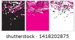 set o 3 abstract geometric...   Shutterstock .eps vector #1418202875