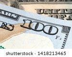 fragment of a hundred dollar...   Shutterstock . vector #1418213465