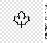 maple leaf icon from outdoor... | Shutterstock .eps vector #1418214638