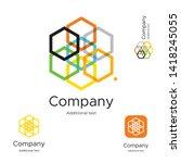 abstract bright modern logo... | Shutterstock .eps vector #1418245055