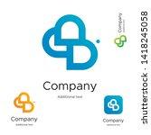 abstract bright modern logo... | Shutterstock .eps vector #1418245058