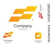 abstract bright modern logo... | Shutterstock .eps vector #1418245082