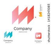 abstract bright modern logo... | Shutterstock .eps vector #1418245085