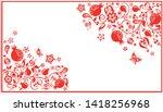 greeting horizontal visiting...   Shutterstock .eps vector #1418256968
