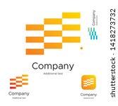 abstract bright modern logo... | Shutterstock .eps vector #1418273732