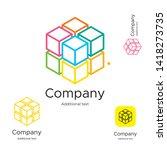 abstract bright modern logo... | Shutterstock .eps vector #1418273735