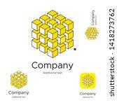 abstract bright modern logo... | Shutterstock .eps vector #1418273762
