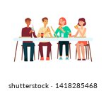 group of people men and women... | Shutterstock .eps vector #1418285468