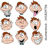 man emotions    illustration of ... | Shutterstock .eps vector #141829756