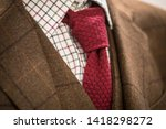 close up of a man dressed in... | Shutterstock . vector #1418298272