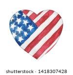 Watercolor Stylized Heart In...
