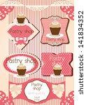 set of retro labels  ... | Shutterstock .eps vector #141834352