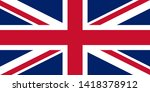 british flag isolated on white... | Shutterstock . vector #1418378912