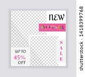 social media banner template....   Shutterstock .eps vector #1418399768