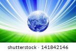 Abstract eco background - save planet Earth, green energy concept. Elements of this image furnished by NASA - stock photo