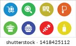 handle icon set. 8 filled...   Shutterstock .eps vector #1418425112