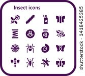 insect icon set. 16 filled... | Shutterstock .eps vector #1418425385