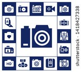 photographing icon set. 17... | Shutterstock .eps vector #1418427338