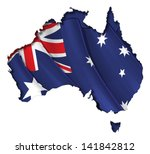 australian map cut out  highly... | Shutterstock .eps vector #141842812