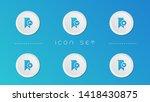 bookmark button icon set...