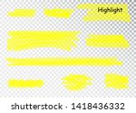 yellow highlighter marker... | Shutterstock .eps vector #1418436332