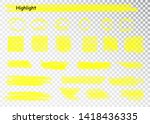yellow highlighter marker... | Shutterstock .eps vector #1418436335