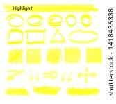 hand drawn highlight marker... | Shutterstock .eps vector #1418436338