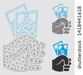 mesh dollar banknotes salary... | Shutterstock .eps vector #1418441618