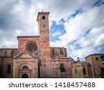 the medieval cathedral of saint ... | Shutterstock . vector #1418457488