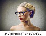 beautiful blonde woman with... | Shutterstock . vector #141847516