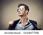 handsome man with sunglasses | Shutterstock . vector #141847708