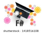 f sharp programming language....   Shutterstock . vector #1418516108
