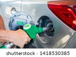 the petrol tank is open at the... | Shutterstock . vector #1418530385