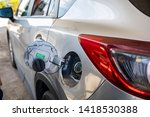the petrol tank is open at the... | Shutterstock . vector #1418530388