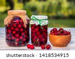 Homemade Cherry Fruit Compote...
