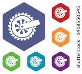 cogwheel icon. simple... | Shutterstock .eps vector #1418550545