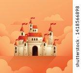 medieval castle vector... | Shutterstock .eps vector #1418566898